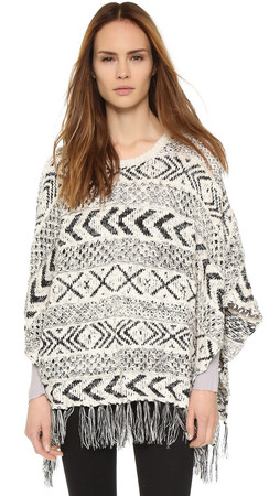 Bb Dakota Campbell Poncho - Ivory