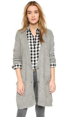 Bb Dakota Charlie Grandpa Cardigan - Heather Grey