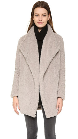 Bb Dakota Daylin Faux Fur Coat - Pale Camel