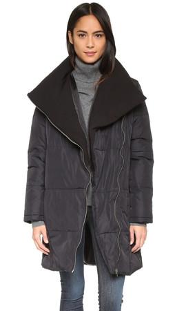 Bb Dakota Evans Long Puffer Coat - Black