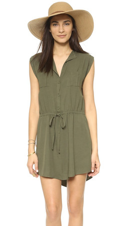 Bb Dakota Jack By Bb Dakota Jolene Dress - Utility Green