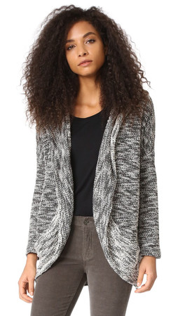 Bb Dakota Jack By Bb Dakota Phirich Hooded Cardigan - Black/White