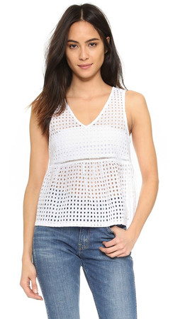 Bb Dakota Jack By Bb Dakota Tiffani Peplum Tank - White