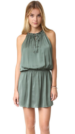 Bb Dakota Kelving Drop Waist Dress - Army Green