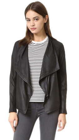 Bb Dakota Kenrick Soft Leather Jacket - Black