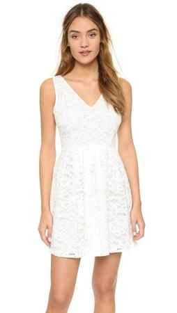 Bb Dakota Kerry Lace Mini Dress - Ivory