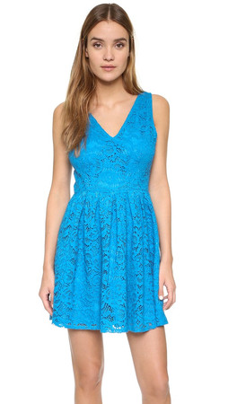 Bb Dakota Kerry Lace Mini Dress - Sea Blue