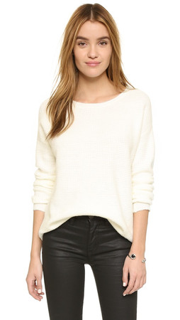 Bb Dakota Luisa Fuzzy Sweater - Ivory