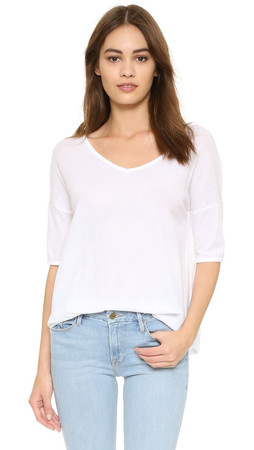 Bb Dakota Oversized V Neck Tee - Optic White
