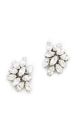 Ben-Amun Crystal Cluster Earrings - Clear