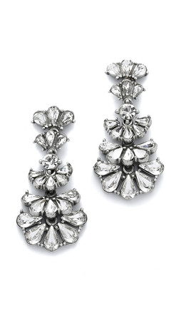 Ben-Amun Crystal Statement Earrings - Clear