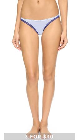 Calvin Klein Underwear Bottoms Up Thong - Illusion