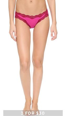 Calvin Klein Underwear Coquette Cotton Bikini Briefs - Splendor Pink W/Deep Velvet