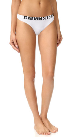 Calvin Klein Underwear Seamless Logo Thong - White