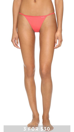 Calvin Klein Underwear Sleek String Thong - Rhodochrosite