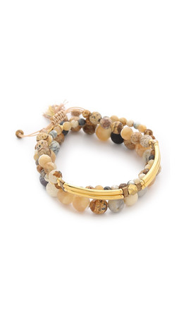 Chan Luu Beaded Bracelet Set - Natural Mix