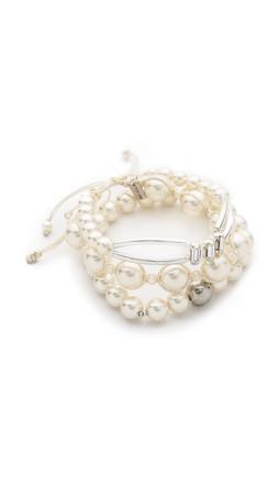 Chan Luu Beaded Bracelet Set - White Mix