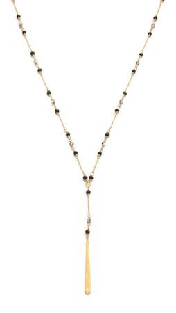 Chan Luu Beaded Drop Pendant Necklace - Black Mix