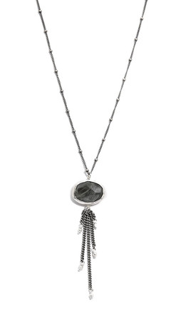 Chan Luu Chain Fringe Pendant Necklace - Cat'S Eye