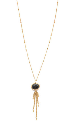 Chan Luu Chain Fringe Pendant Necklace - Hyperstene