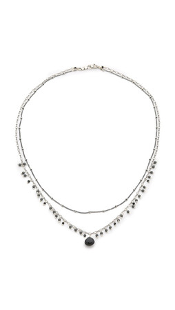 Chan Luu Delicate Double Layer Necklace - Black Mix