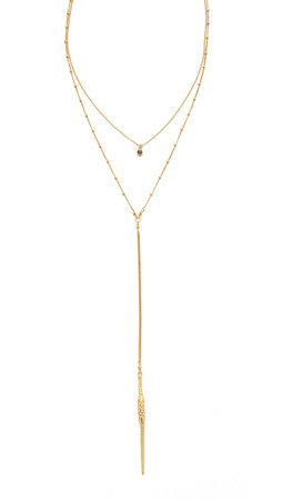 Chan Luu Double Layered Lariat Necklace - Labradorite
