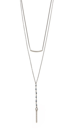 Chan Luu Double Layered Lariat Necklace - Midnight