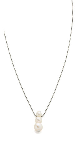 Chan Luu Freshwater Cultured Pearl Pendant Necklace - White Pearl