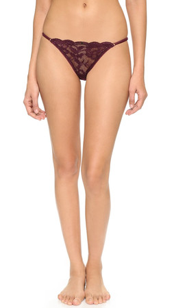Clo Intimo Fortuna Adjustable Thong - Bordeaux