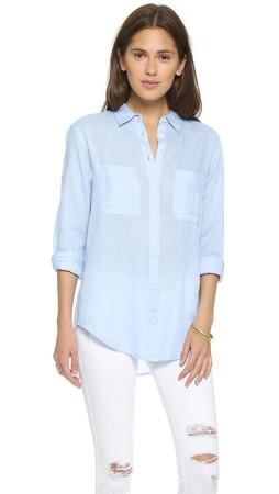 Club Monaco Claudia Shirt - Pale Blue