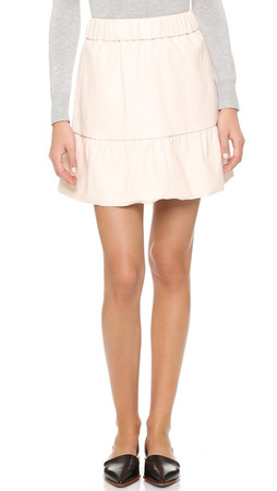 Club Monaco Delani Novel Faux Leather Skirt - Foundation