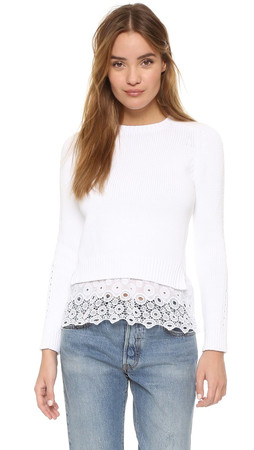 Club Monaco Genara Sweater - Pure White