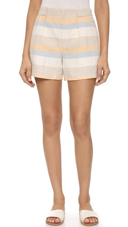 Club Monaco Indya Shorts - Horizon Stripe