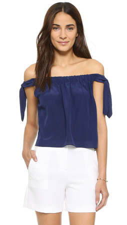 Club Monaco Nadina Top - Bayou Blue
