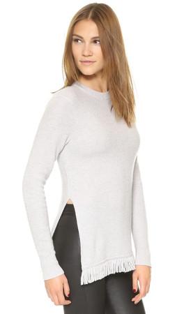 Club Monaco Phenti Cashmere Sweater - Light Heather Grey