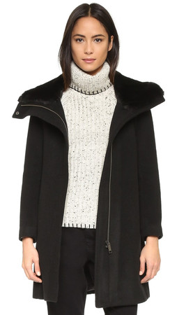 Club Monaco Rocio Coat - Black