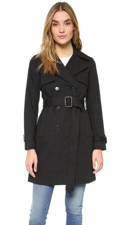 Club Monaco Yulia Trench Coat - Black