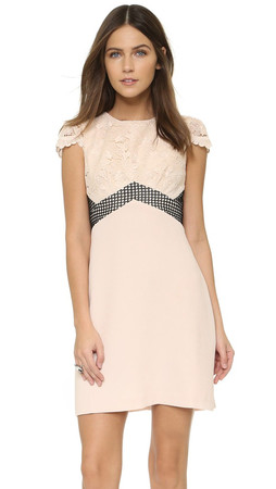 Club Monaco Zulandah Dress - Foundation Combo Black