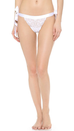 Cosabella Fetherston Low Rise Thong - White
