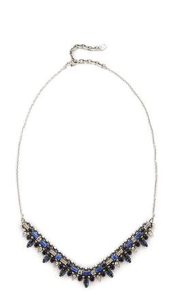 Dannijo Arabia Necklace - Dark Indigo/Sapphire/Ox Silver