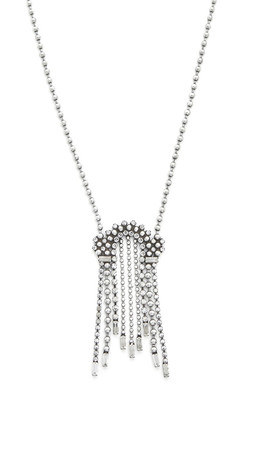 Dannijo Gina Necklace - Clear/Ox Silver