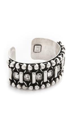 Dannijo Mae Bracelet - Clear/Ox Silver