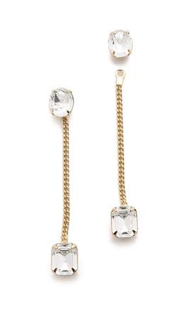 Dannijo Thales Earrings - Clear/Gold