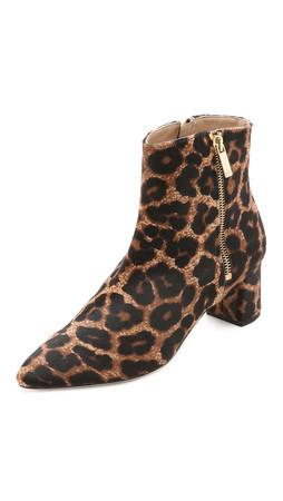 Diane Von Furstenberg Abbot Too Booties - Leopard