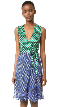 Diane Von Furstenberg Bethanie Wrap Dress - Diagonal Dots