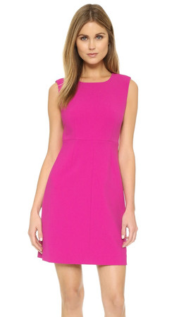Diane Von Furstenberg Carrie Sheath Dress - Hot Orchid