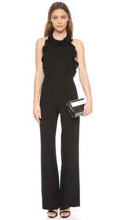 Diane Von Furstenberg Blithe Jumpsuit - Black