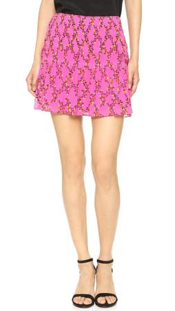 Diane Von Furstenberg Dvf Tayte Skirt - Shalamar Trellis Pink