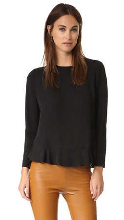 Diane Von Furstenberg Galia Top - Black