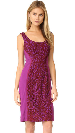 Diane Von Furstenberg Geovana Lace Dress - Purple Amethyst/Red Onyx